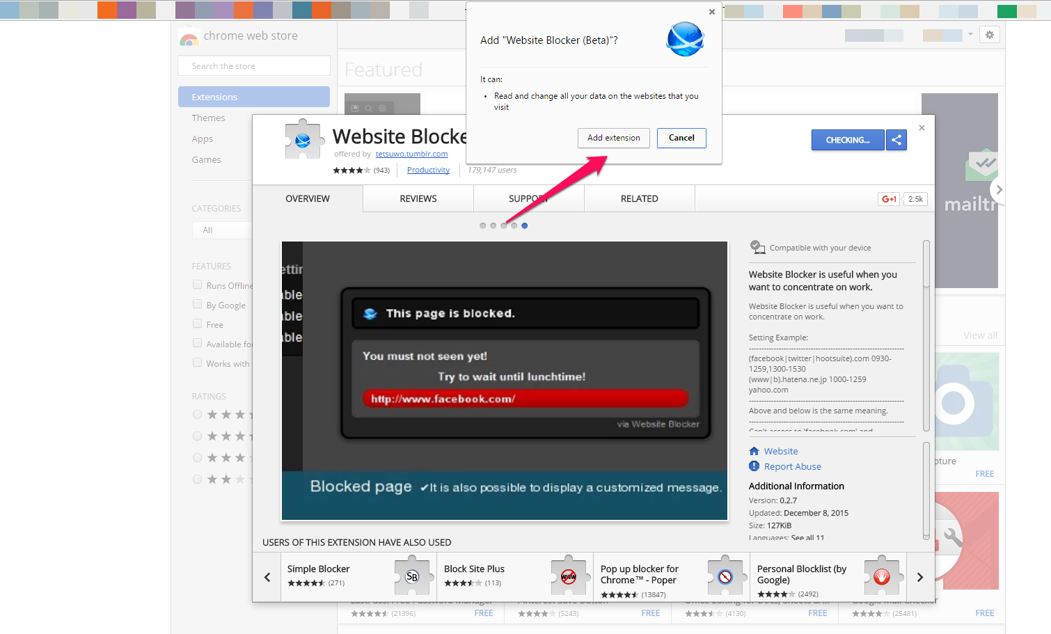 How To Unblock Add On Chrome
